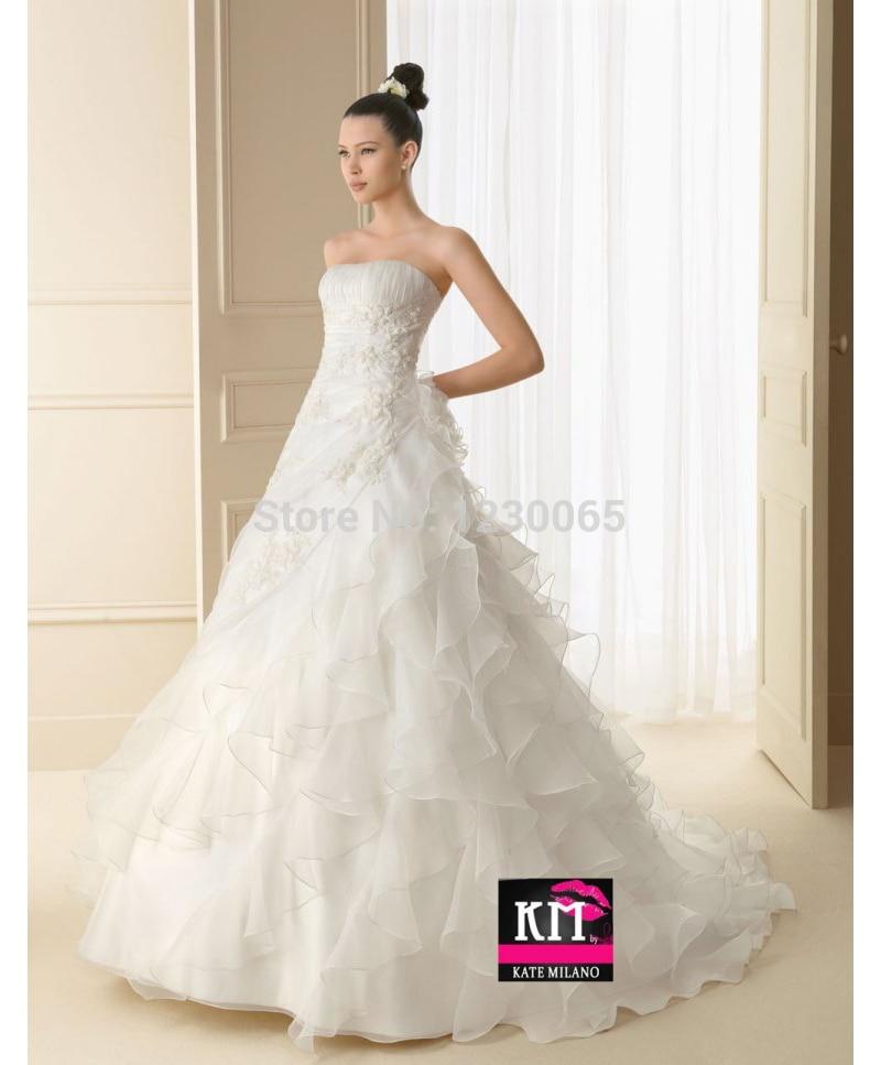 Free Shipping Romantic A-line 2018 Casamento Vestido De Noiva Bridal Gown Flower Ruffles Organza Mother Of The Bride Dresses