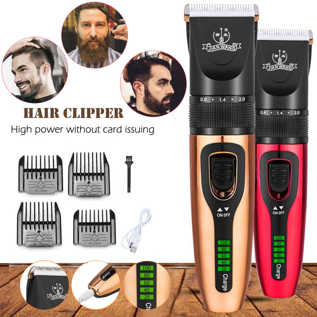 New Hair Clippers Men Professional Waterproof Beard Hair Trimmer Rechargeable Face Body Hair Electric Hair Clipper Power Display Dog Hair Trimmers Aliexpress