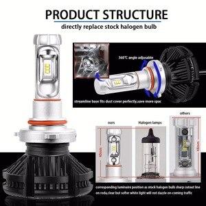 Image 4 - PANUDUK автомобильный светильник зэс H4 светодиодный H7 H11 3000K 6000K 8000K HB3 9005 HB4 9006 светодиодные лампы для автомобильных фар светодиодный головной светильник s лампочки 50 Вт 6000LM фары авто X3