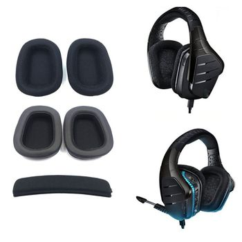 Foam Ear Pads Pillow Cushion Mesh Head Beam For logitech G633 G933 Headphones image