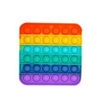 Fidget Toys 간단한 딤플 푸시 버블 Pop Fidget 감각 장난감 자폐증 Special Needs Stress Reliever Poppit Toys Fidget Antistress