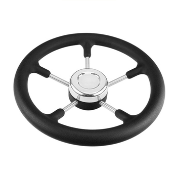 320mm Accessories Tapered Shaft Durable For Boat 5 Spokes Polyurethane Foam Replacement Hardware Yacht Steering Wheel Marine
