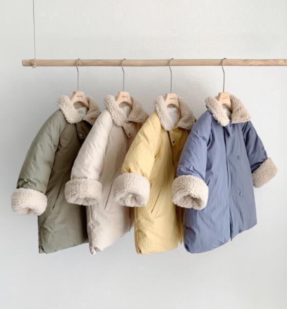 criancas quentes e engrossados casaco de algodao de la de cordeiro casaco de inverno para criancas