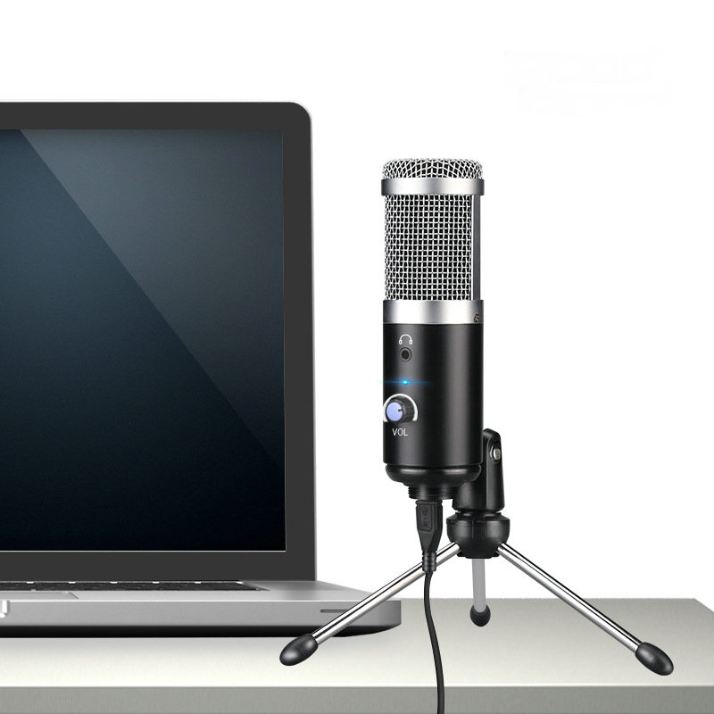 USB <font><b>Microphone</b></font> Podcast Condenser <font><b>Microphone</b></font> Professional <font><b>Microphone</b></font> With Tripod Stand for Computer Youtube image