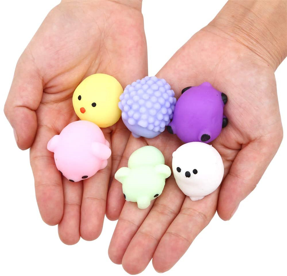 24pcs Party Favors for Kids Mochi Squishy Toy moji Kids Party Favors Mini Kawaii squishies img3