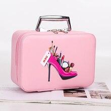 Высококачественная женская косметичка, женский косметический чехол с верхней ручкой, органайзер, коробка с вкладышами, большой размер, вместительная сумочка, кошелек