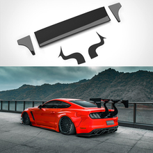 Car Styling Carbon Fiber Rear Roof Spoiler Tail Trunk Spoiler Wing Boot Lip Molding For Ford Mustang 2015 2016 2017 2018 2019 carbon fiber frp car rear wing trunk lip double deck spoiler for ford mustang 2015 2016 2017 2018 2019