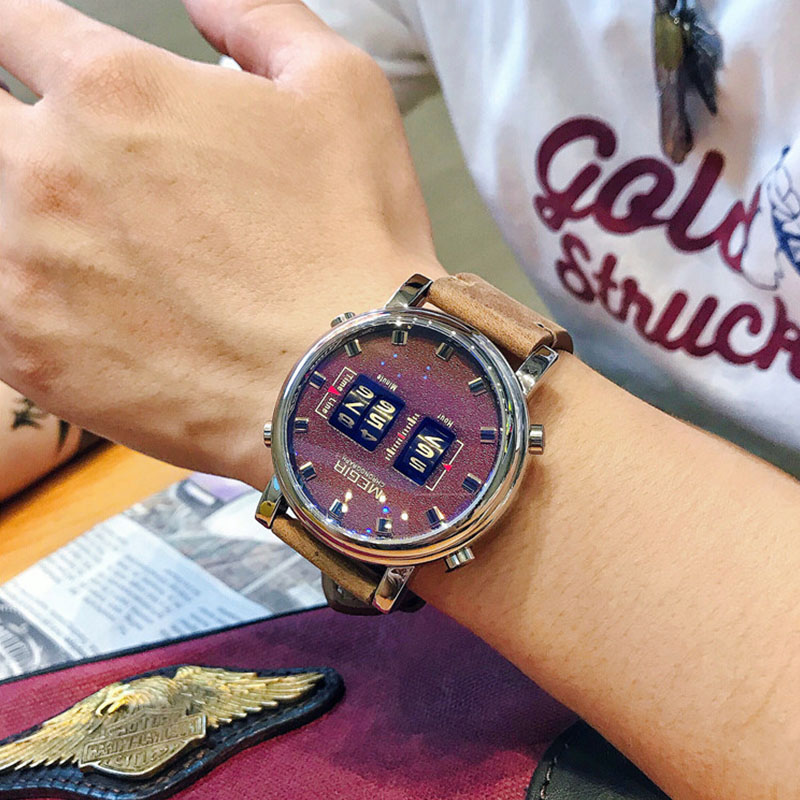 MEGIR новые часы мужские спортивные цифровые наручные часы многофункциональные 30 М Кварцевые водонепроницаемые часы relogio masculino