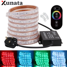 SMD 5050 UK RGB LED Strip Rope 60Leds/m Flexible Ribbon Tape Waterproof Led Light Strip Decoration With RGB Full Touch Control waterproof mf 5050rgb 30 smd led rgb flexible strip