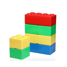 Building blocks desktop storage box can be superimposed fun children's stationery pencil case cosmetics organizer Jewelry box