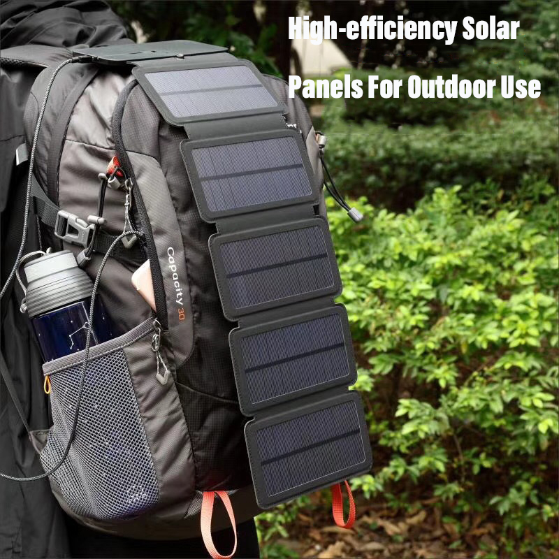 Essential For Adventure Lovers Camping Equipment Outdoor Accessories Fold And Easy To Carry Solar Charger Emergency Camping Gear