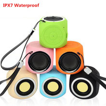 New Portable Bluetooth Speaker Wireless Bass Column Waterproof Outdoor Speaker With Microphone Subwoofer Stereo Loudspeaker(China)