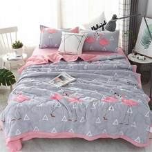 Gentleman Bird Printing Cotton Summer Air Conditioning Cool Thin Cotton Quilt Wash Comfortable Home Textile Bedding Quilt Quilt(China)