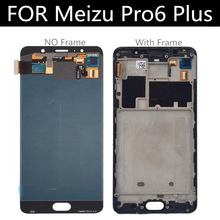 For Meizu Pro6 PLUS LCD Display+Touch Screen With Frame For Meizu PRO 6 PLUS Lcd Display  Accessories Replacement lcd display screen touch panel digitizer with frame for 5 2 meizu pro 6 pro6 pro 6s pro6s white black color free shipping