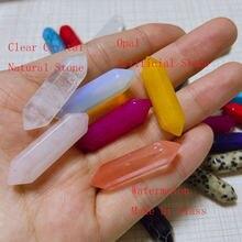1pc cristais naturais ponto coluna 20 cores ametista opala pedras artificiais mineral jóias cura casa mágica decoração pedra preciosa