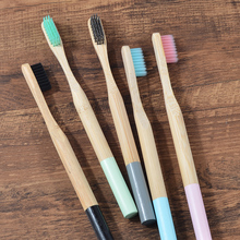 Bamboo Toothbrushes Cepillo Eco-Friendly Dientes Soft Bristles Oral-Care Adult 5-Pack