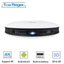 TouYinger G4 Mini 2D to 3D DLP Projector data show Android 720P Full HD 4K video wifi Bluetooth HDMI Portable Home cinema Beamer(China)