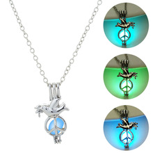 Moana Limited Tin Lovers Kolye Choker 2019 Hot The For Dove Of Peace Necklace Natural Gem Pendant Chains Halloween Gifts