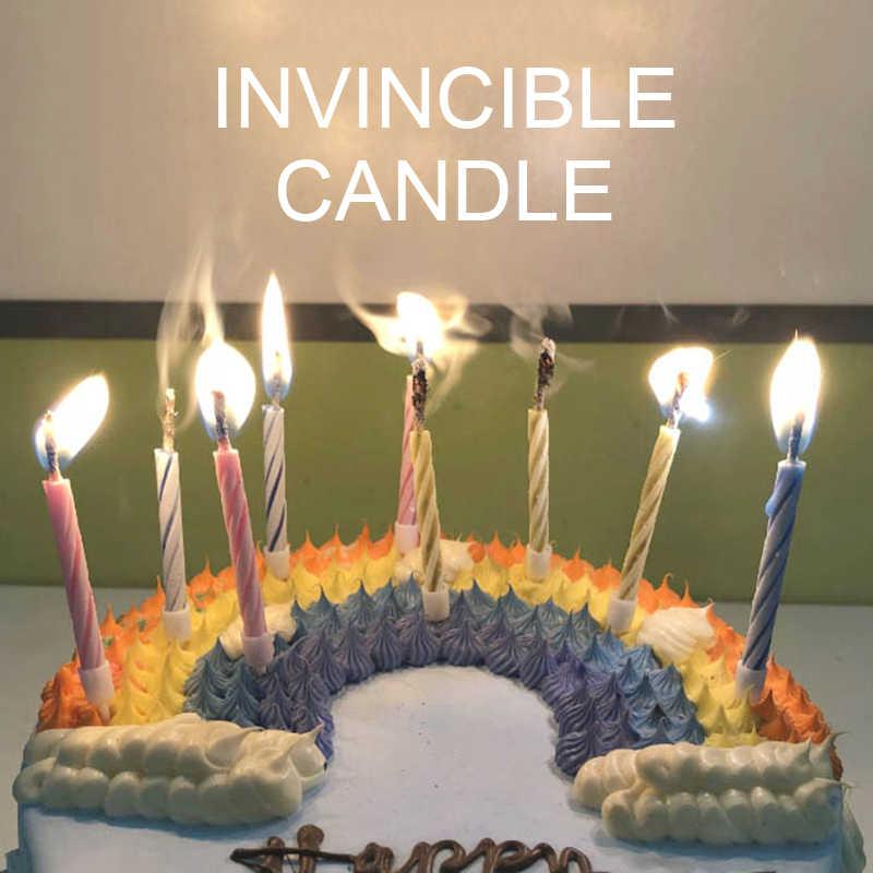 Prime Hot New Striped Joke Magic Birthday Candle Joke Kids Magical Prop Funny Birthday Cards Online Inifodamsfinfo