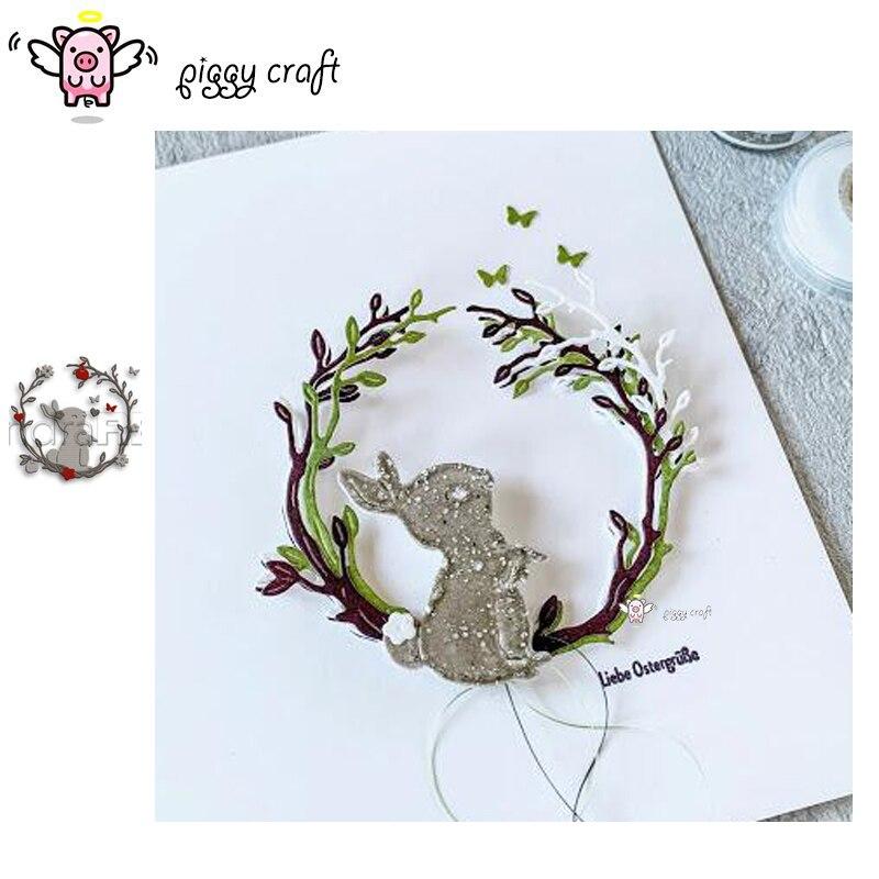 Свинья, для рукоделия металлический Трафаретный вырубной штамп кроя поделочная форма кролик цветок листья кольцо Скрап крафт-бумаги нож пресс-форм лезвие удар трафареты умирает