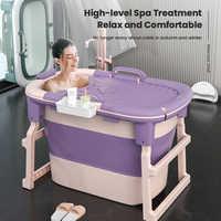 Baby shinning-bañera plegable para adultos y niños, artefacto de baño grande para sentarse y acostarse para levantar el baño del hogar