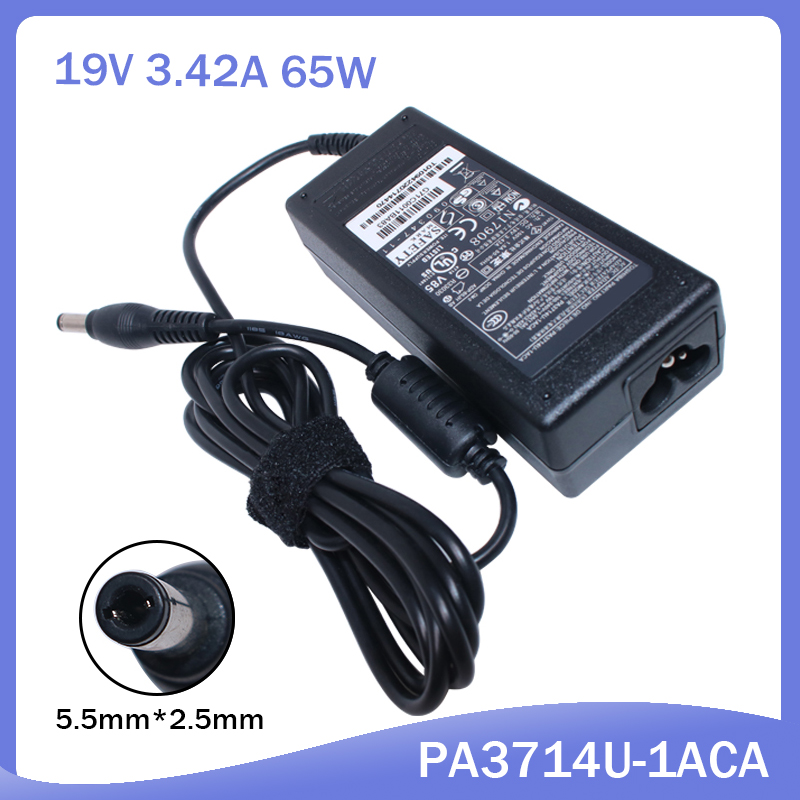 19V 3.42A Laptop Charger AC Adapter For Toshiba Satellite C655 C660 L300 L450 L500 L500-1EN A200 A205 PA3714U-1ACA Power Supply