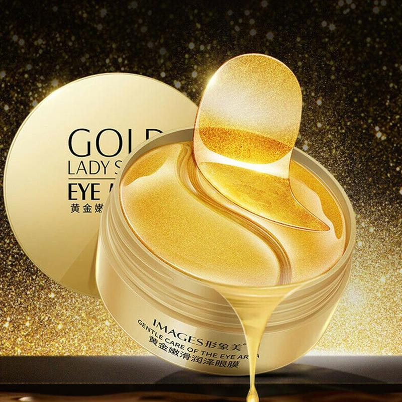 60pcs Gold Seaweed Collagen Eye Mask Anti Wrinkle Gel Sleep Gold Mask 2 Patches For Eyes Moisturizing Eye Mask Korean Skin Care