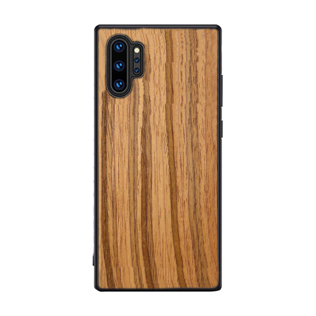 Fashion Business Cellphone Case For Samsung Galaxy Note 10 Plus Soft Wood Flexible Shock Resistant CoverPingyou