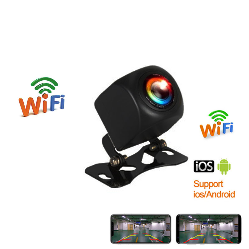 New Arrival!!! WIFI HD Car Reverse Camera Wireless Car Rear View Camera For IOS And Android Phone With Video Recording Function