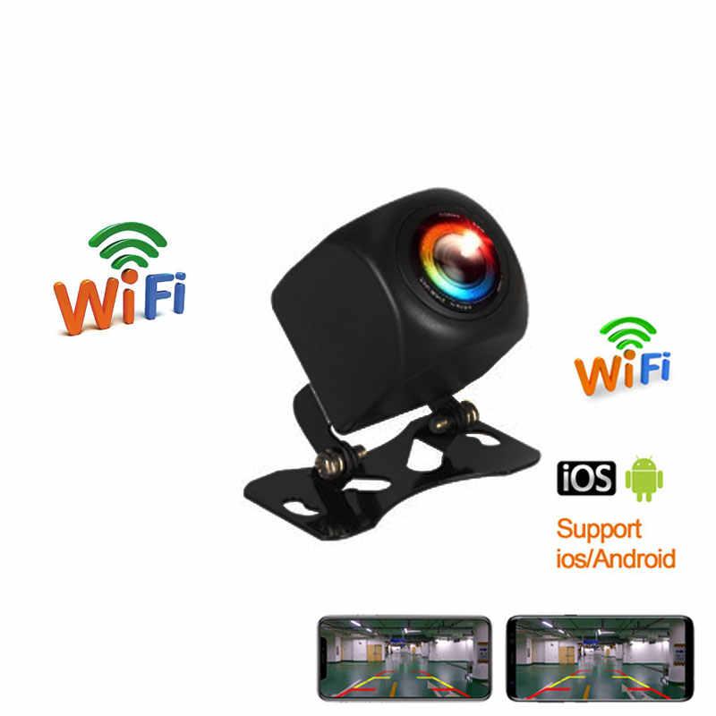 Nowy przyjazd!!! WIFI HD samochodowa kamera cofania bezprzewodowa tylna kamera samochodowa dla IOS i telefon z systemem Android z funkcja nagrywania wideo