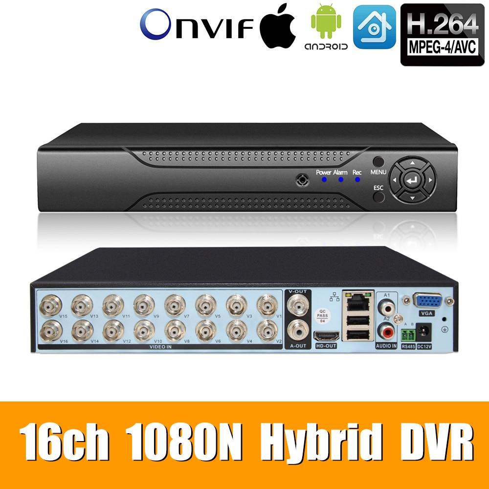 5in1 16ch*1080N AHD DVR Surveillance Security CCTV Video Recorder HybridDVR For1080P/720P/960H Analog AHD CVI TVI IPcamera XMEYE