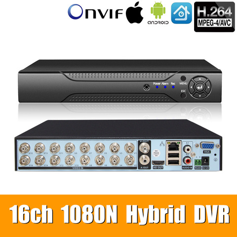 5in1 16ch 1080n ahd dvr vigilancia seguranca cctv gravador de video hybriddvr for1080p 720 p