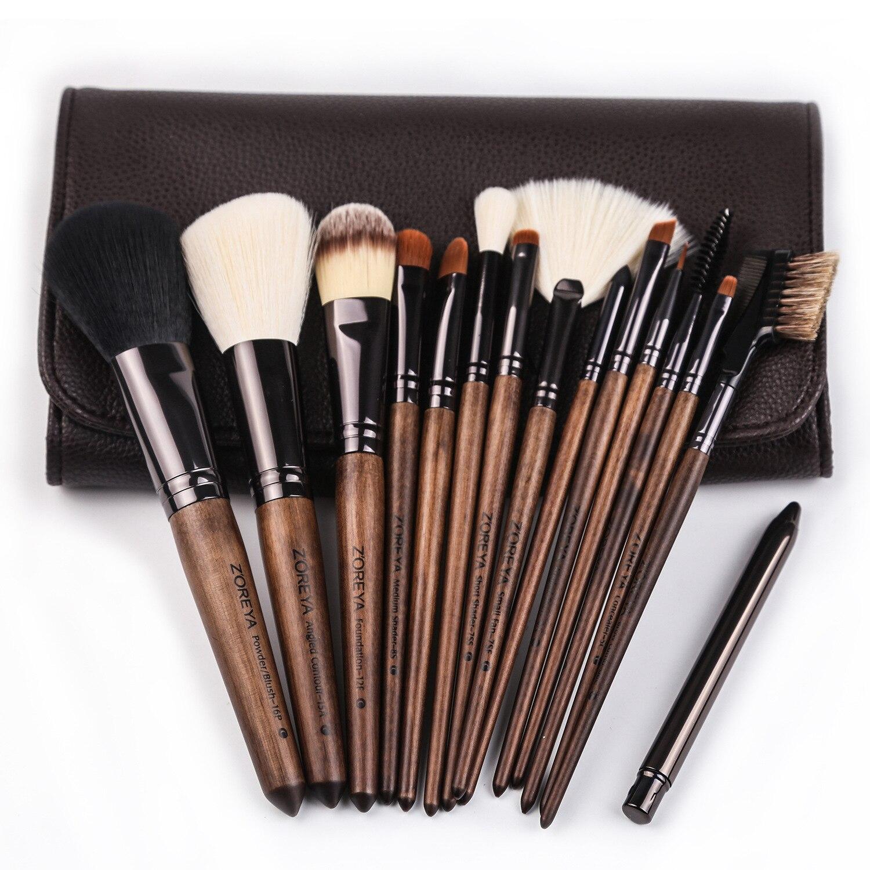 Msq 10 шт. набор кистей для макияжа Косметическая Пудра Тени для век основа для макияжа медный наконечник инструмент для макияжа с магнитным ч... - 2