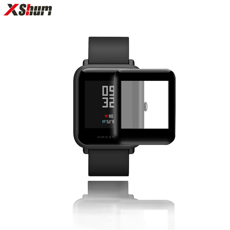 Amazfit Bip Film For Xiaomi Amazfit Bip Glass Screen Protectors Fiberglass Ultra-thin Protective Full Cover HD For Accessories