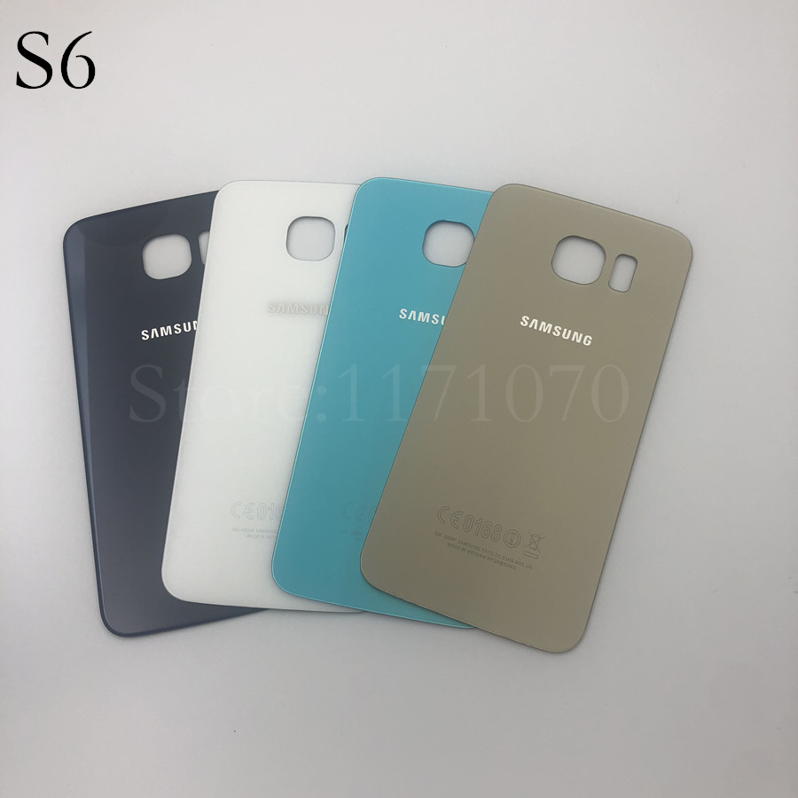 Samsung Galaxy S6 G920 G920F G9200 S6 edge G925 s6+plus G928 Back Battery Cover Door Rear Housing Case Replacement image