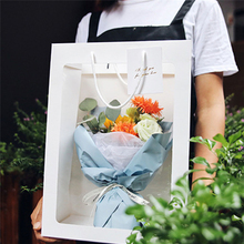 5pcs Rose Flower Tote Bag Transparent Gift Bags Wedding Party Decoration Can Hang Hard Girlfriend Boxes