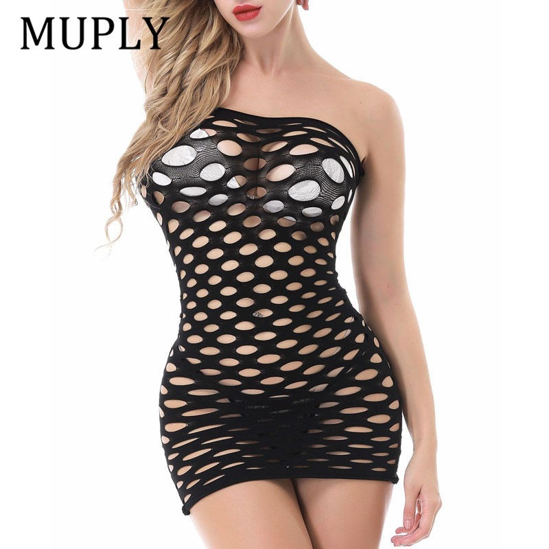 2020 New Fishnet Underwear Elasticity Cotton Sexy Lingerie Muply Hot Women Sex Costumes For Mesh Baby Doll Dress Erotic Lingerie