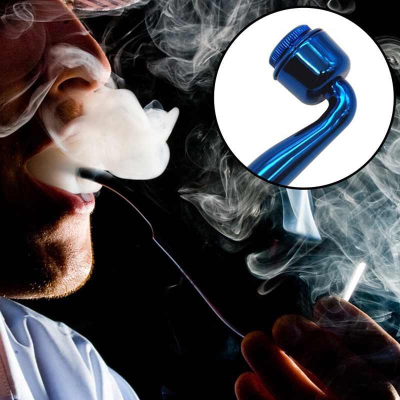 عالية الجودة سبائك معدنية التدخين عشب الأنابيب 95 مللي متر سلطانية من المعدن الأنابيب انفصال التبغ الأنابيب التدخين التبغ الأنابيب