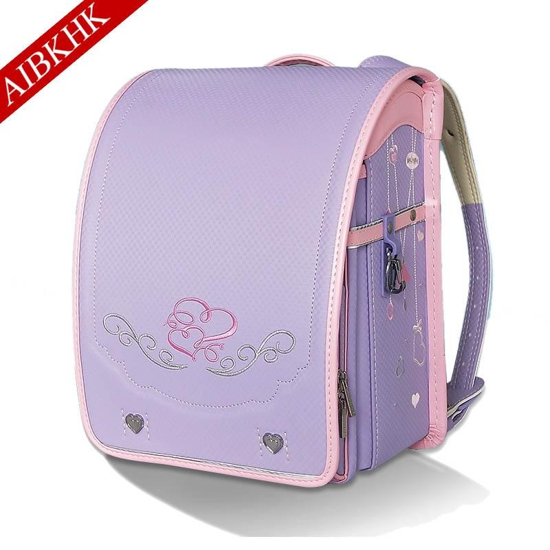 School-Bag Randoseru Orthopedic-Schoolbag-Backpack Girls Children for Boys Bookbag Embroidery
