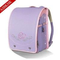 Large Capacity Embroidery School Bag For Girls Boys Children Book Bag Orthopedic Schoolbag Backpack For School Randoseru Bookbag