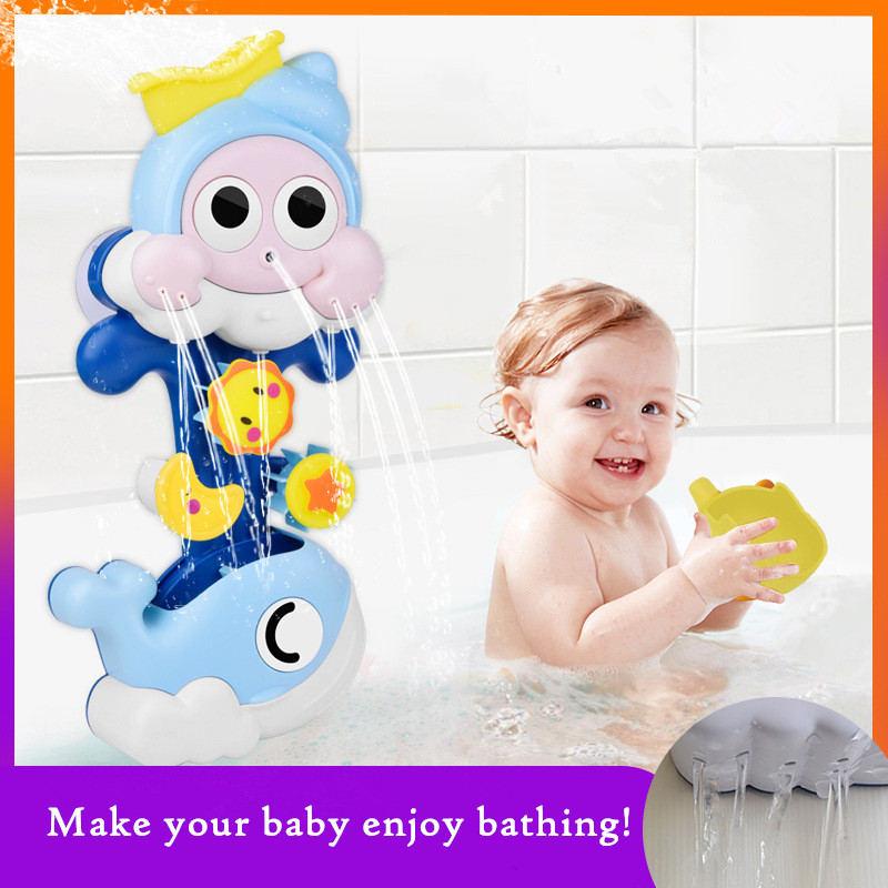 Baby Bathroom Interactive Shower Water Spraying Games Toys Children Bath Toys Play Water Shower Water Toys Kids Birthday Gifts image