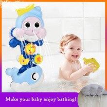 Banho do bebê chuveiro interativo água pulverização jogos brinquedos crianças banho brinquedos jogar água chuveiro brinquedos crianças presentes de aniversário