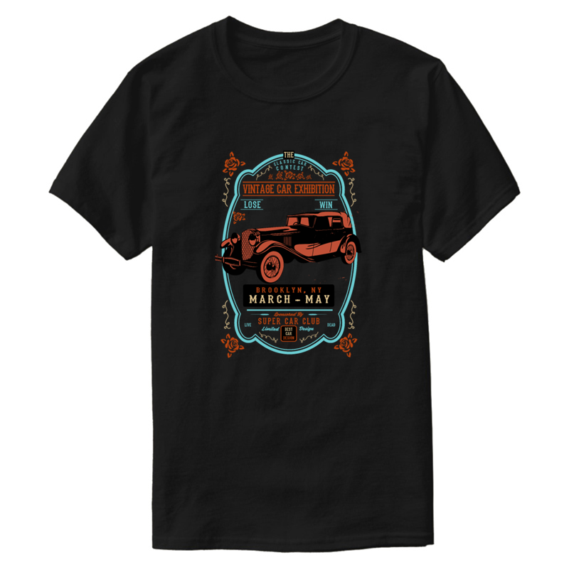 Design Funny Casual Vintage Car t shirt for men streetwear Kawaii female t shirts Harajuku cotton Graphic Top Quality thumbnail