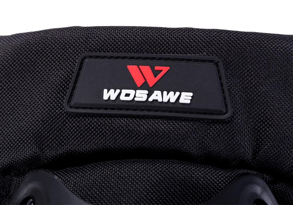 Wosawe adulto joelheiras almofadas cotovelo moto motocross