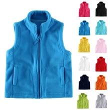 New Style Children Waistcoats Winter Girl Boys Baby Solid Warm Coats Vest Comfy Zipper Thick Hoodie Outerwear jaquetas infantil