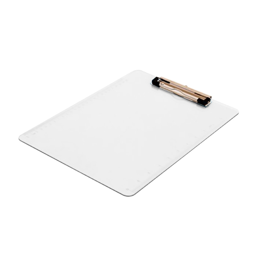 A4 Vertical Type Clipboard Document Solid School Writing Pad File Folder Paperwork With Tick Mark Office Holder Transparent