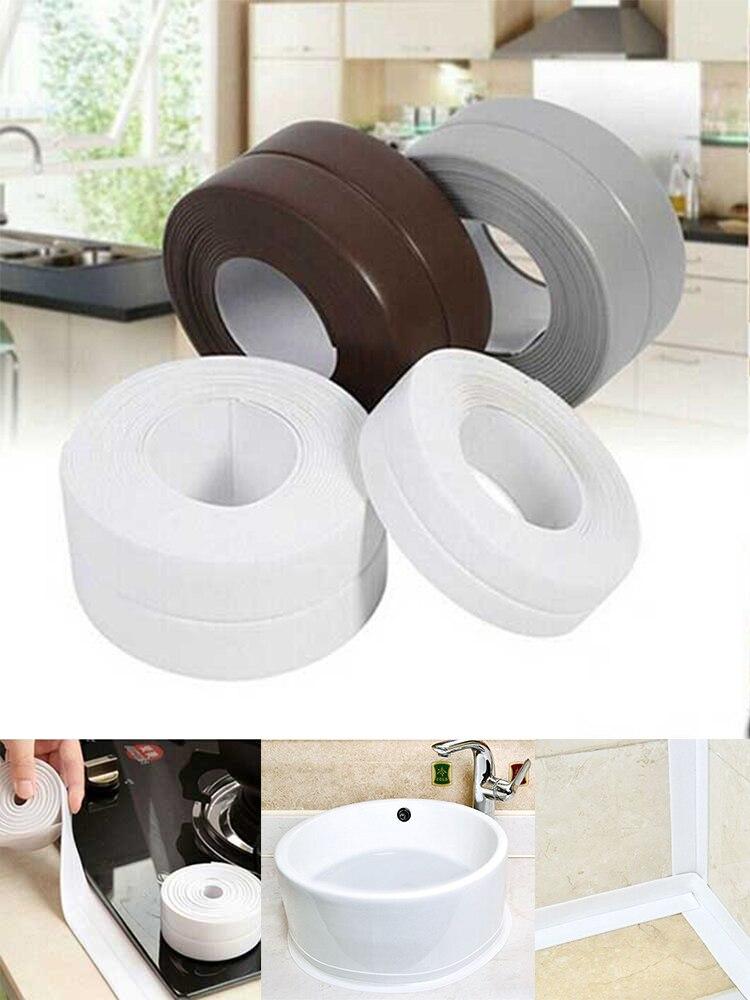 Tape White Sealing-Strip Sink Wall-Sticker Shower Bath Self-Adhesive Kitchen PVC Waterproof