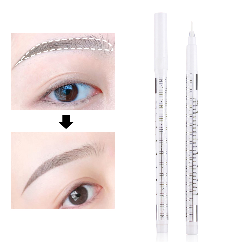 1PC Eyebrow Tattoo Skin Marker Pen White Scribe Microblading Accessories Pen Permanent Waterproof Body Art Makeup Tools