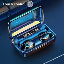 Sem fio bluetooth fone de ouvido v5.0 F9-5C tws controle de toque estéreo esporte fones de ouvido de redução de ruído fone de ouvido 2020