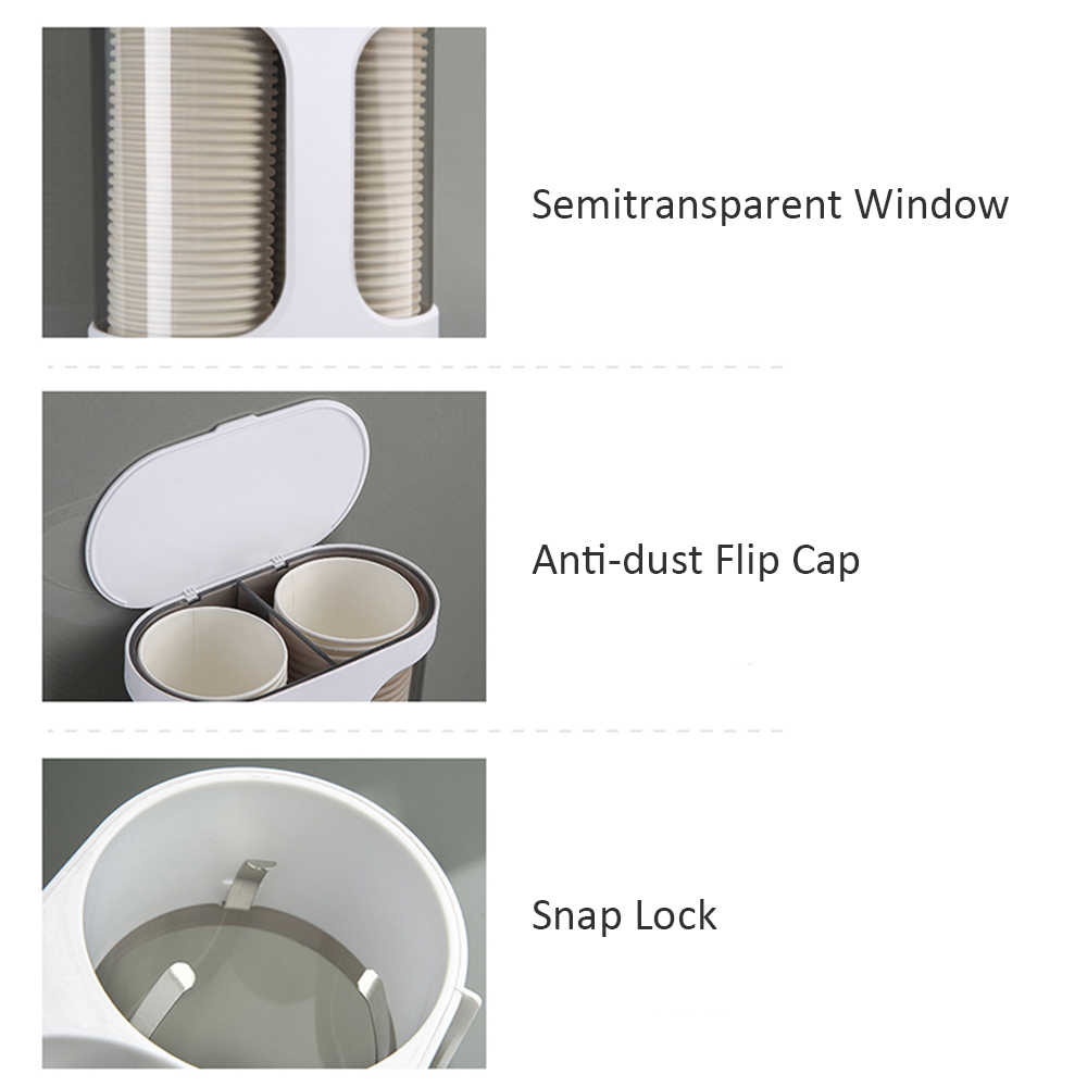Ecoco Paper Cup Dispenser Wall Mounted